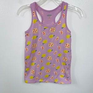 Girls Old Navy Lemon Graphic Tank Top Small 6 / 7